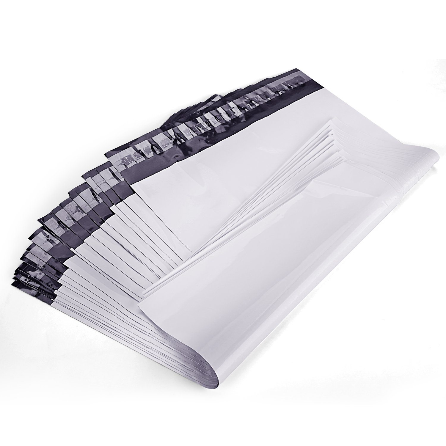 Poly Mailers Shipping Bags Self Sealing, White,100pcs/Bag (12''x15.5'')