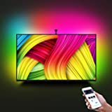 """LED TV Backlight Kit with Camera,7.22ft Music Led Strip Lights,RGB Smart Light Strip Ambient Bias Lighting,3-Modes with App (Video,Music,Custom),Compatible for Any TV Signal (Not Only HDMI), (46""""-60"""")"""