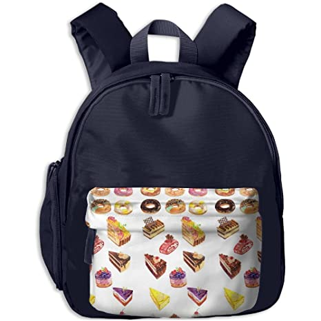 4fc24b5bc8 Amazon.com  Doughnut Cake And Ice Cream Students Book Bag Children ...