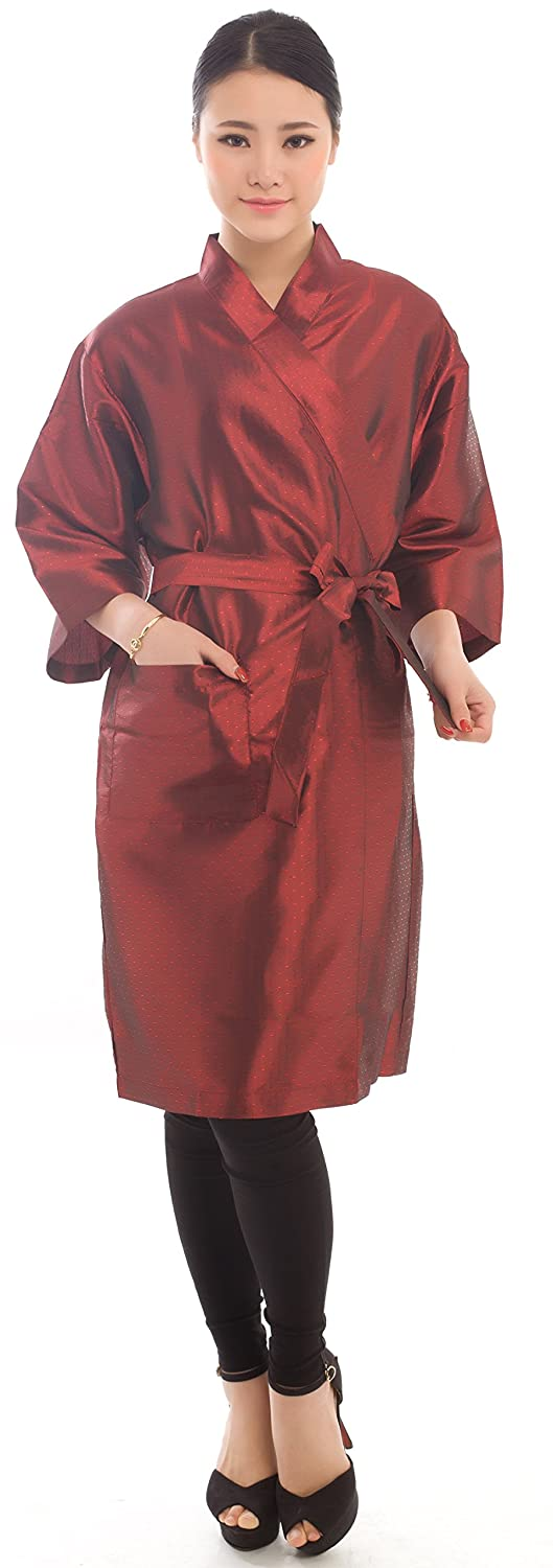 Salon Client Gown Robes Cape, Hair Salon Smock for Clients- Kimono Style ((Blue) Perfehair SW017