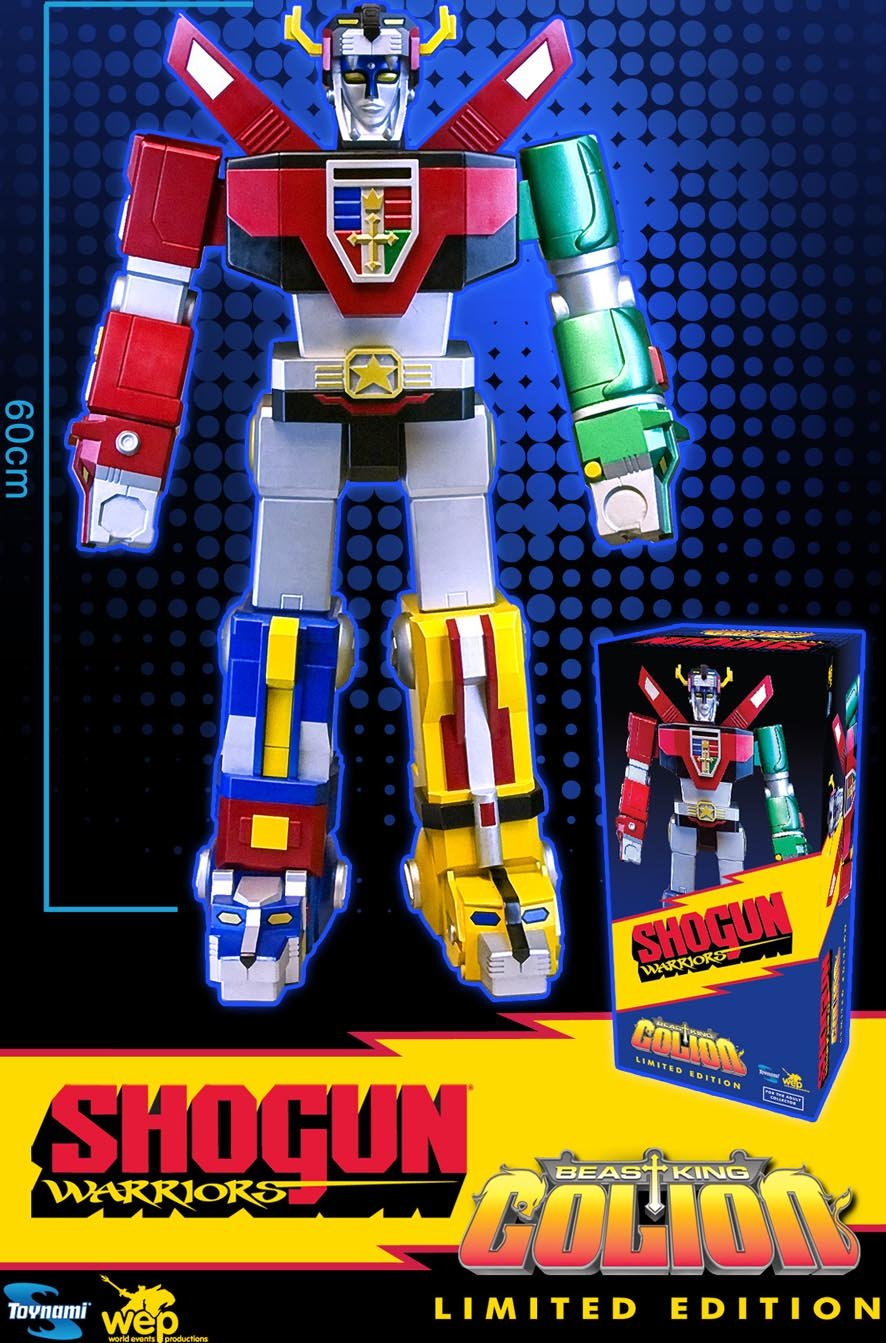 Shogun Warriors Beast King Golion Jumbo Voltron Figur
