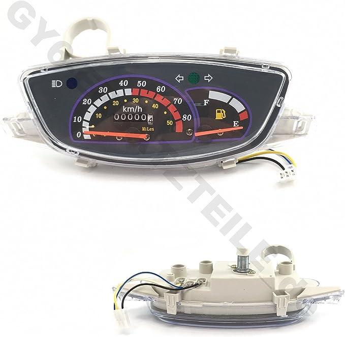 Cockpit Compteur de vitesse compteur de vitesse 4 T roller pour Rex RS 450 50 4 T LAEAGZ 400 Année de construction 2006-2014