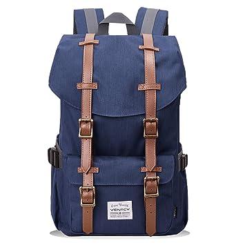 09a0345eb5e88 VENTCY Schulrucksack Jungen Teenager Studenten Rucksack Damen Herren  Backpack Unisex Daypack für 14 Zoll Rucksack Laptop