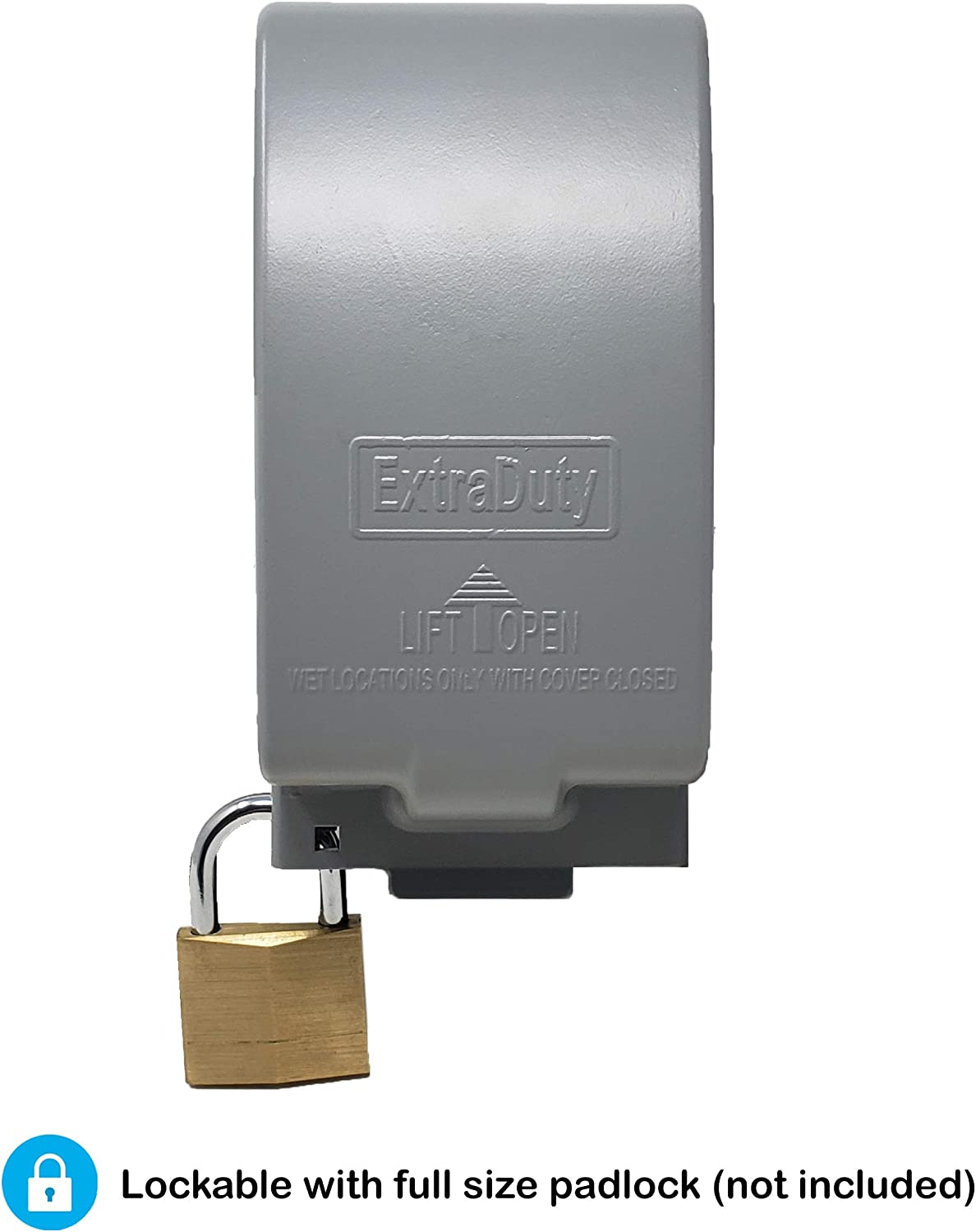 1-Gang Vertical Metal Weatherproof Lockable While In Use Outdoor Outlet Receptacle Cover 7-in-1 Configurations
