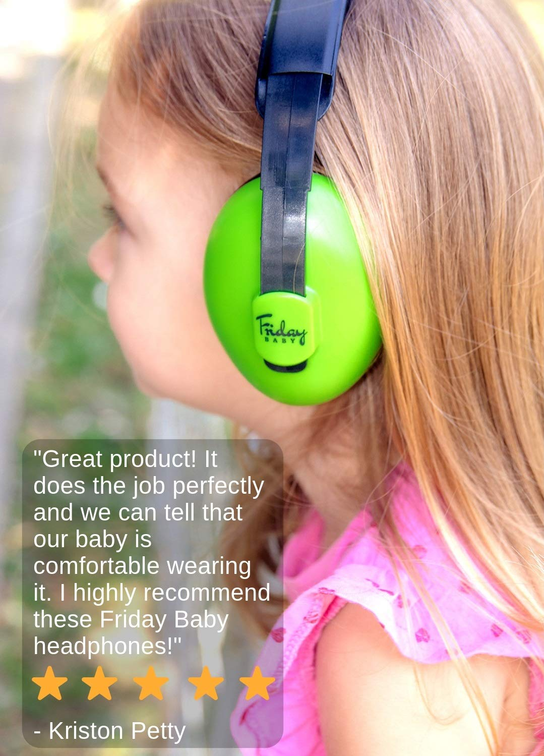 Baby Ear Protection - Comfortable and Adjustable Premium Noise Cancelling Headphones for Babies, Infants, Newborns (0-2+ Years) | Best Baby Headphones Noise Reduction for Concerts, Fireworks & Travels by Friday Baby (Image #5)
