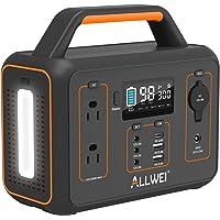 Deals on ALLWEI Portable Power Station 300W/Peak 600W Solar Generator