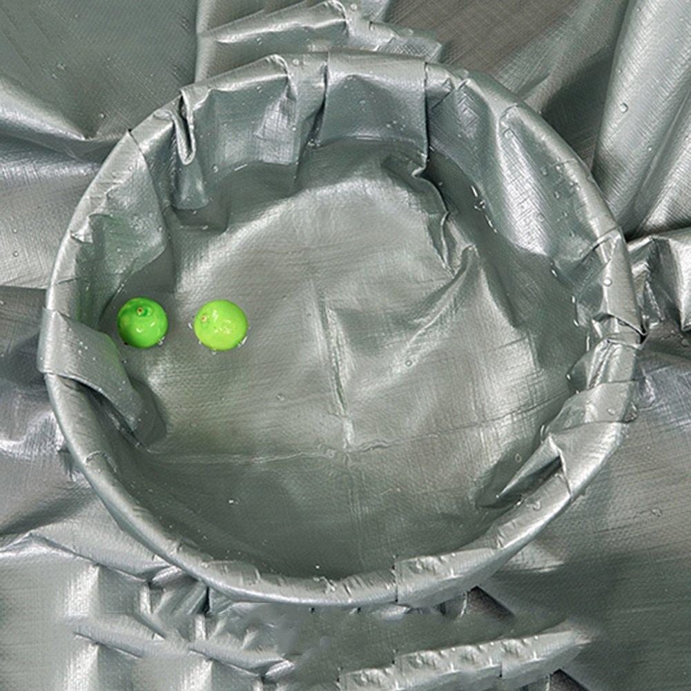 AJZGF Regenschutz Wasserdicht Plane, Wasserdichte Camping Poncho Camping Wasserdichte Matte Fracht Sonnenschutzisolierung abriebfestes Antioxidans (Farbe   Gray, größe   5x6M) 3b91c2