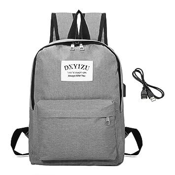 Backpack Mochilas Escolares, Gracosy Mochila de lona para hombre Laptop Backpack Rucksack Mochila Escolar para