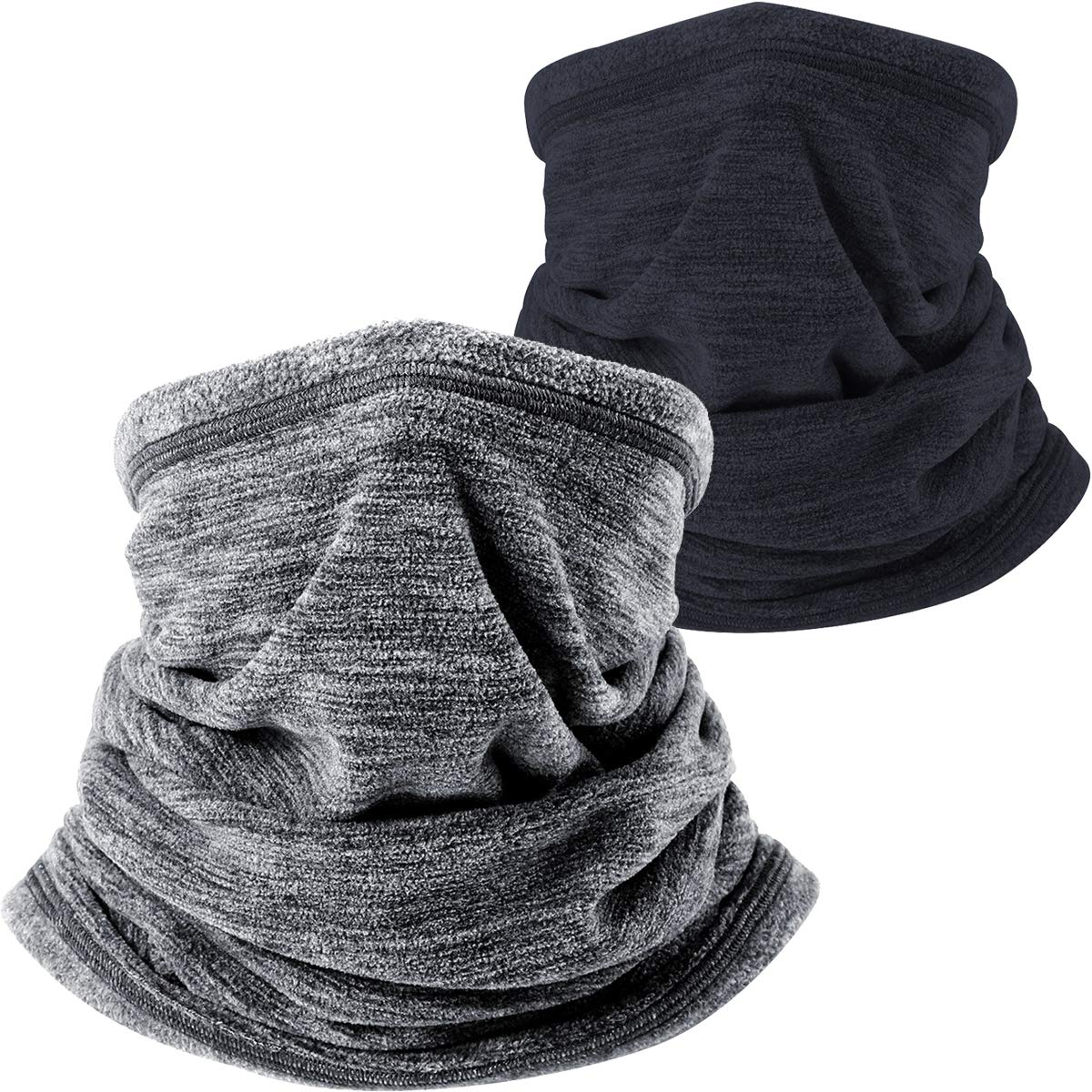2f804b5c5 WTACTFUL 2 Pack or 1 Pack - Soft Fleece Neck Gaiter Warmer Face Mask for  Cold