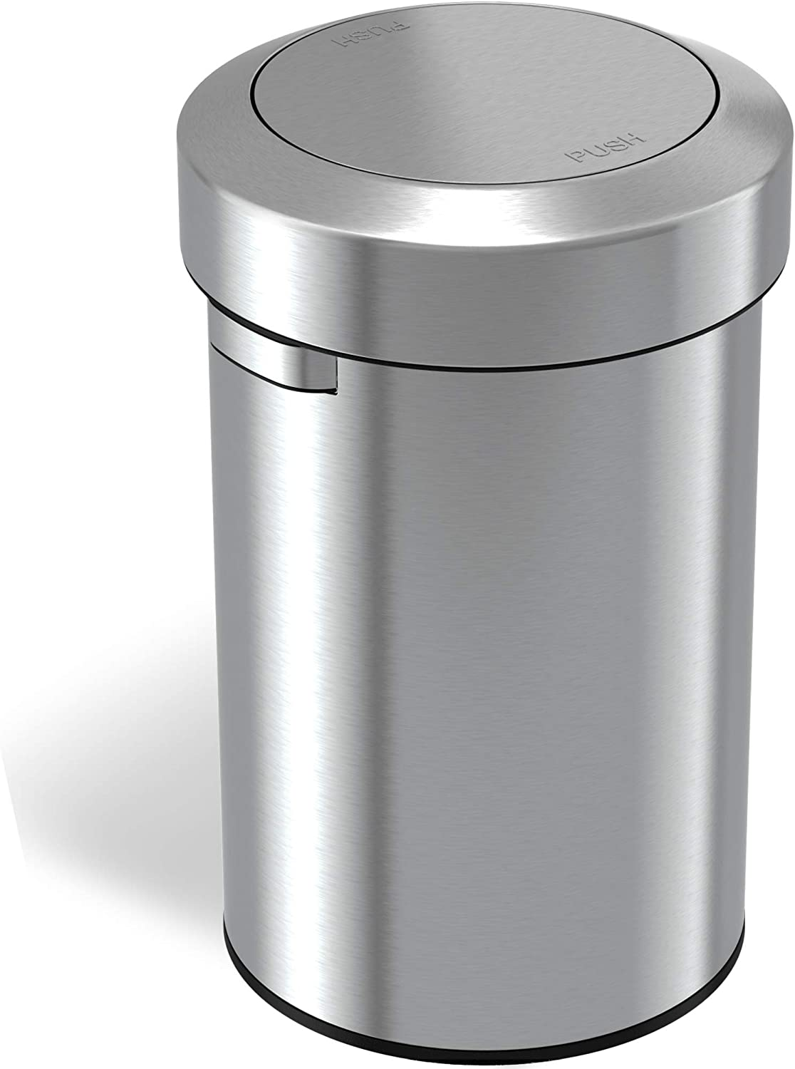 iTouchless 14 Gallon Sliding Lid Automatic Sensor Trash Can with Odor Filter System 52 Liter Stainless Steel Touchless Kitchen Garbage Bin