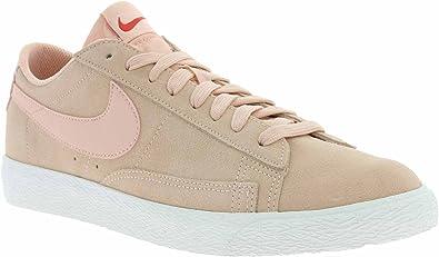 Nike Blazer Low Cuir véritable des Hommes Baskets Rose 371760 801