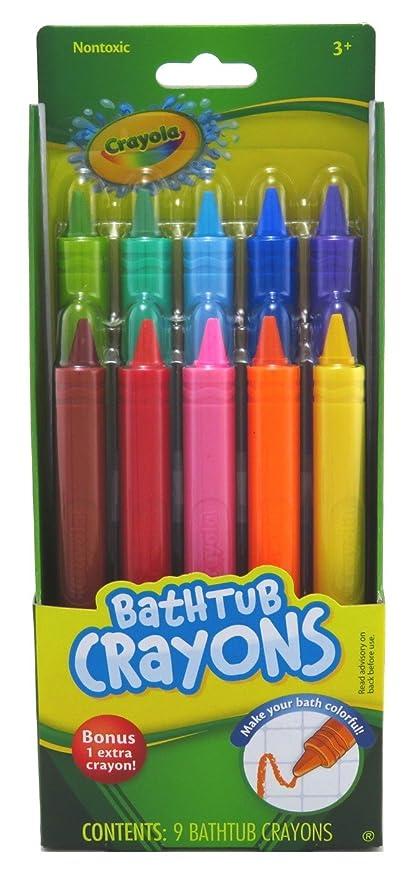 crayola bathtub crayons assorted colors 9 ea - Crayola Bathroom Crayons