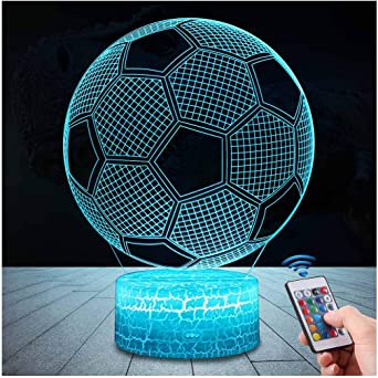 3D LED Veilleuse Football Rugby Table Lampe Décor Enfant Garçon Nouvel an Cadeau