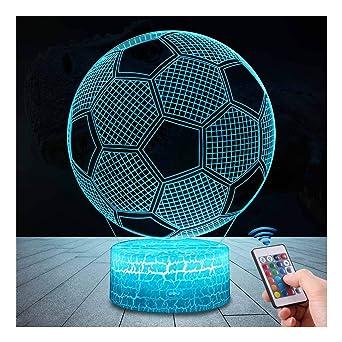 Lampes Led Couleurs 3d InsérerDecoration TélécommandeQilitd 7 Tactile Avec Usbbatterie Lampe Interrupteur Dimmable Football Lumière YWEDH29eI