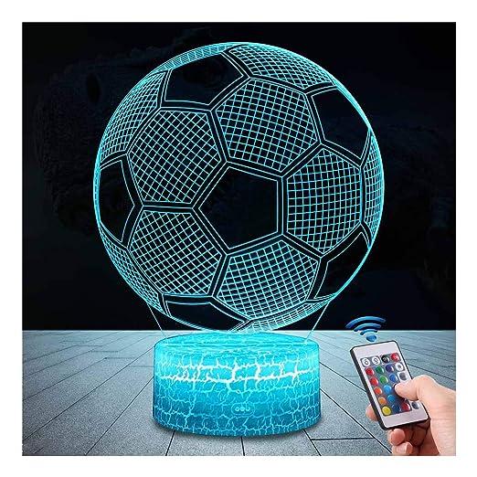 3d Fussball Lampe Led Nachtlicht Mit Fernbedienung Uslinsky 7 Farben Wahlbar Dimmbare Touch Schalter Usb Nachtlampe Geburtstag Geschenk Frohe