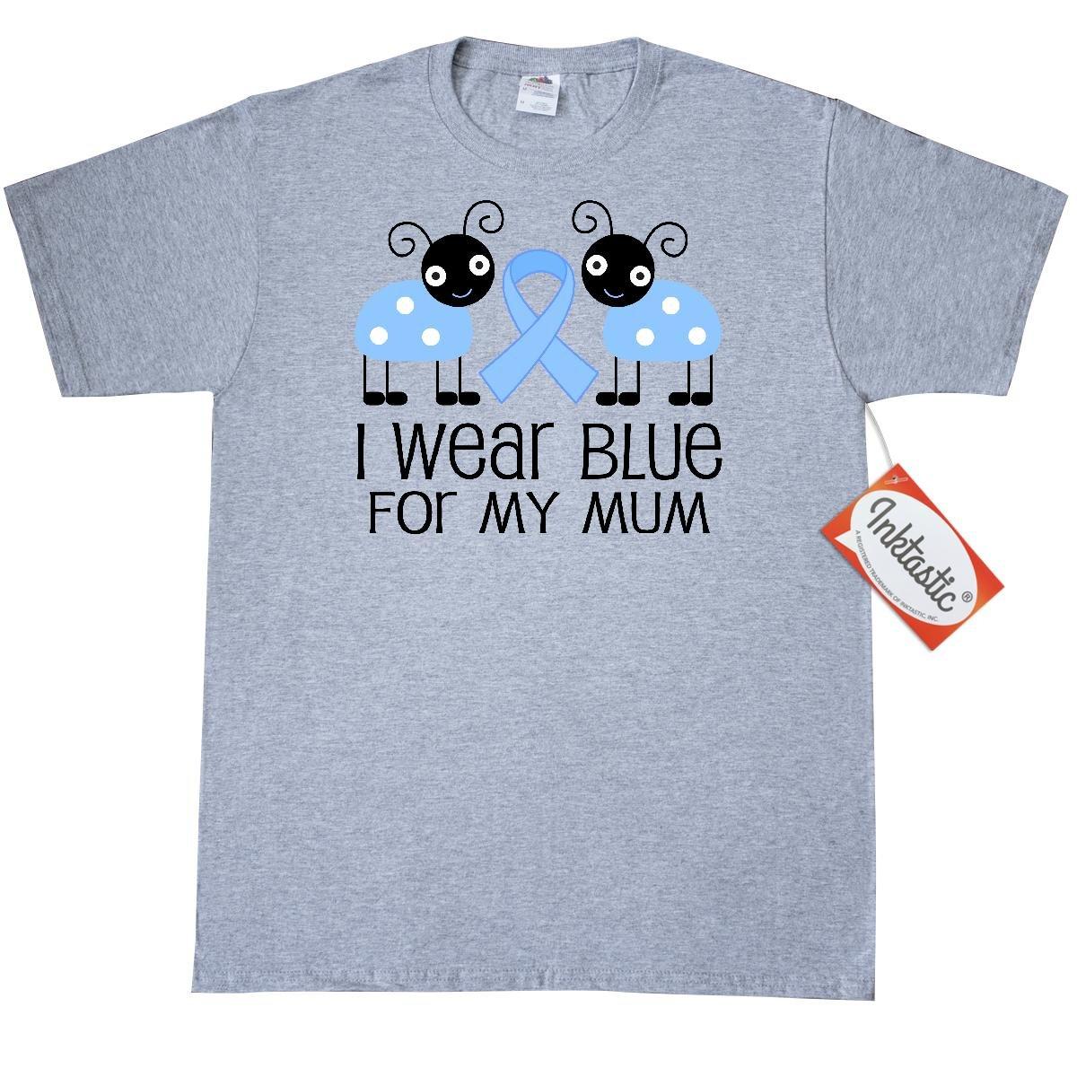 Amazon.com: Inktastic Light Blue Awareness Ribbon For My Mum ...