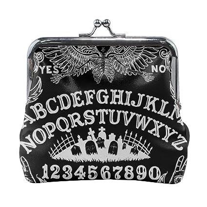 Ouija Board - Monedero de Piel con Hebilla, Color Negro ...