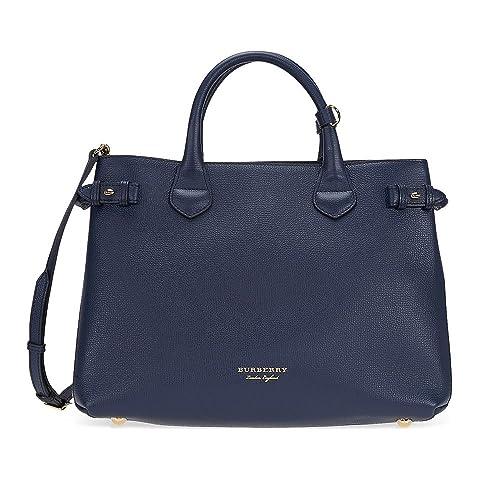 e4371d7fb17e Burberry women's leather handbag shopping bag purse banner blu ...