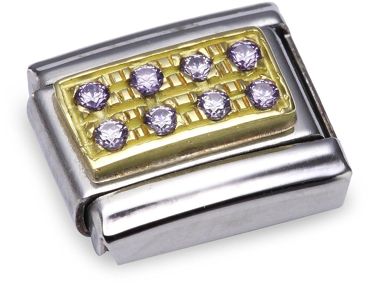 Nomination 030314 - Maillon pour bracelet composable - Femme - Acier inoxydable et Or jaune 18 cts