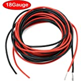 2 x 3 M 24 Gauge AWG Silikon Gummi Drahtseil Draht Kabel flexibel ...