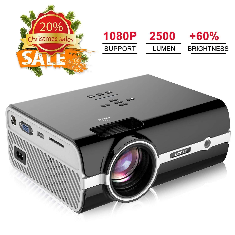 proyector, videoproyectores de 2500 lúmenes Full HD 1080P, Mini ...