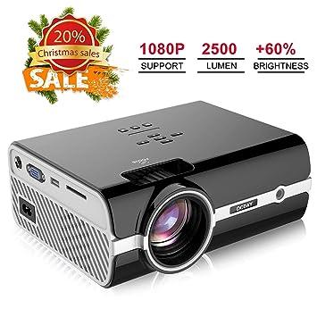 proyector, videoproyectores de 2500 lúmenes Full HD 1080P, Mini proyector portátil de OCDAY para Cine, TV, Xbox Juego Hogar, Boda, Clase, ...