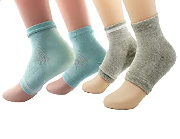 52b427d0f 2 Pairs Moisturizing Silicone Gel Heel Socks for Dry Hard Cracked Skin Open  Toe Comfy Recovery