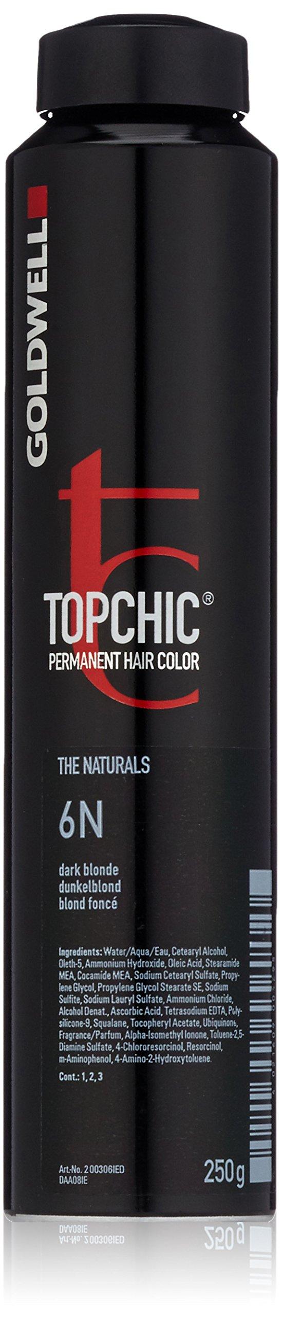 Goldwell Topchic Hair Color, 6n Dark Blonde, 8.6