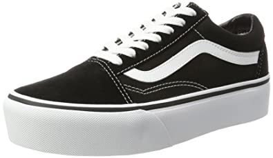 88aac81a05 Vans Unisex Old Skool Platform Black White Sneaker - 3.5