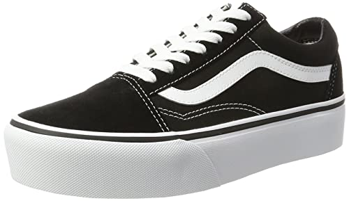 74cc91bc04ca4a Amazon.com | Vans Unisex Old Skool Platform Black/White Sneaker - 3.5 |  Fashion Sneakers