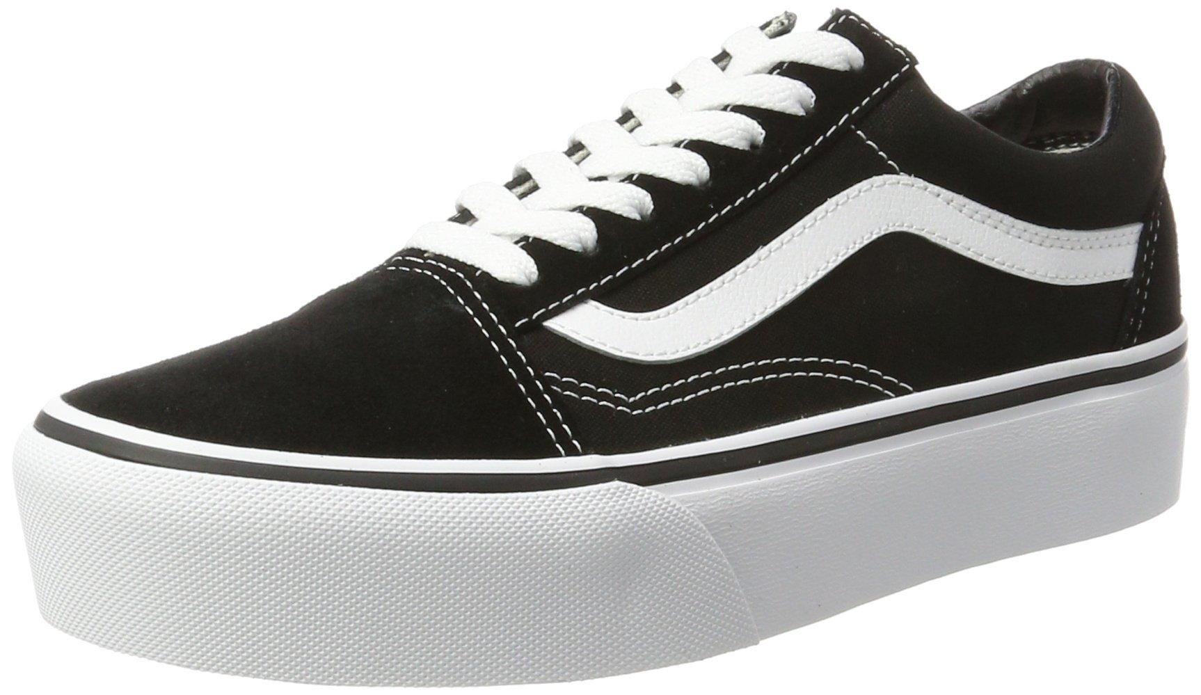 Vans Unisex Old Skool Platform Black/White Skate Shoe 6 Men US/7.5 Women US