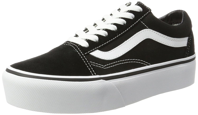 Vans Old Skool Platform, Zapatillas de Entrenamiento para Mujer 42 EU|Negro (Black/White Y28)
