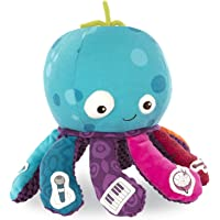 B. toys by Battat – Under The Sea Jamboree – B. Softies – Musical Octopus Toy – Soft Octopus Plush with 8 Instruments…