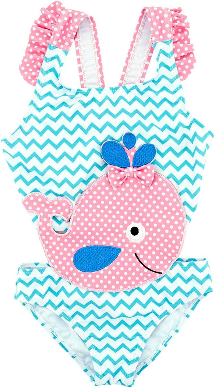 kavkas Baby//Toddler//Infant Rash Guard Swimsuit for Girl One Piece Bathing Suit Cute Cartoon Bikini 12M-8T