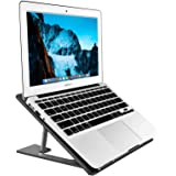 Aluminum Laptop Stand Adjustable, Compatible with Apple Mac MacBook Notebook, Ventilated Portable Ergonomic Desktop…