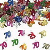 Confettis de table 70 multicolore Sachet de 14 grammes multicolore métal 70