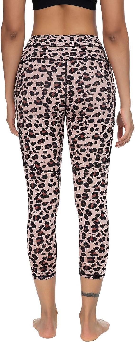 Sarin Mathews Yoga Pants for Women with Pockets Capri Workout Leggings for Women High Waisted Athletic Running Leggings