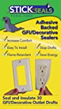 Stick 'N' Seal Adhesive Backed GFI/ Decorative Outlet Draft Sealers. Save Energy and Money. Pack of 30