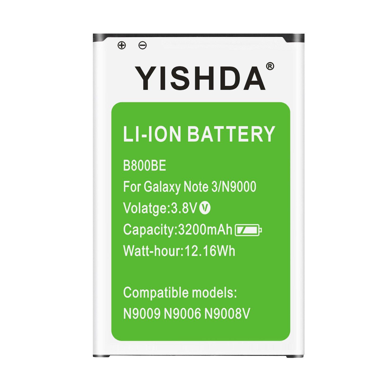 Bateria Celular YISHDA Note 3 3200mAh Samsung Galaxy Note 3 B800BU para Galaxy Note3 N9000 N9005 N900A N900V N900P N900T
