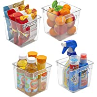 Sorbus Plastic Storage Bins Clear Pantry Organizer Box Bin Containers for Organizing Kitchen Fridge, Food, Snack Pantry…