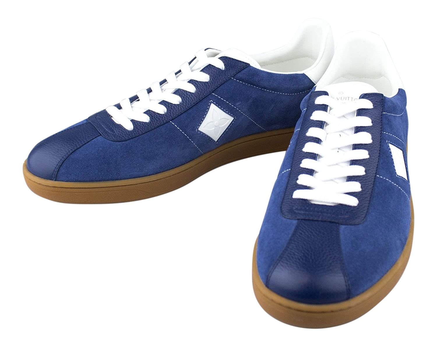 1e6218029 Amazon.com : LOUIS VUITTON. Luxembourg' Blue Leather Sneakers Shoes ...