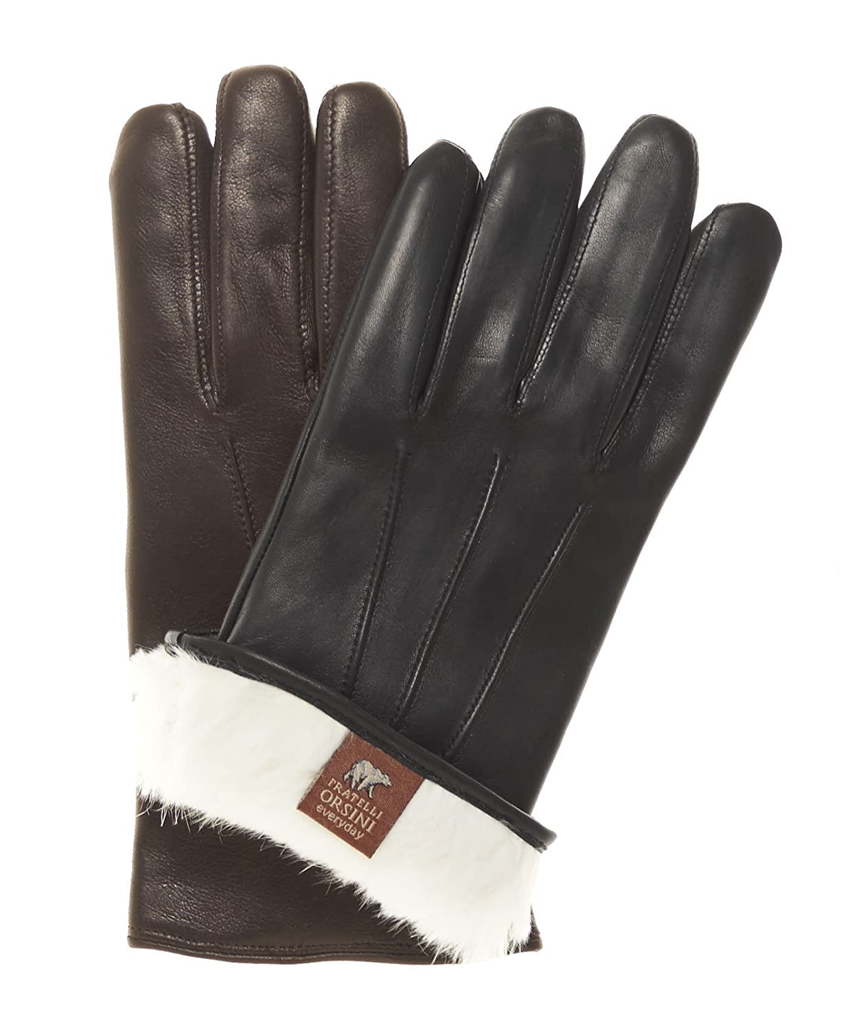 90ebbdfef Fratelli Orsini Everyday Men's Our Bestselling Italian Rabbit Fur Gloves at  Amazon Men's Clothing store: