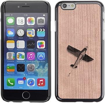 Funda Cubierta Madera de cereza Duro PC Teléfono Estuche / Hard Case for Apple Iphone 6 Plus 5.5 / Phone Case TECELL Store / Avión Libertad Significado Profundo Airplane Freedom Meaning Deep: Amazon.es: Electrónica