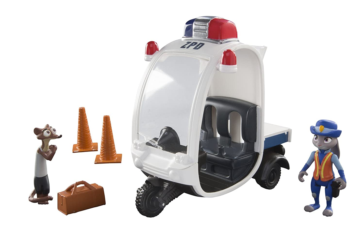 TOMY Zootropolis Meter Maid Vehicle with Judy and Weaselton (Multi-Colour) L70021