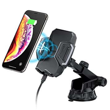 Cargador Inalámbrico Coche CHOETECH Ajustable Fast Wireless Car Charger Soporte Carga Rápida 7.5W Compatible con iPhone 8/Xs/Xs Max/XR/X/8 Plus, 10W ...