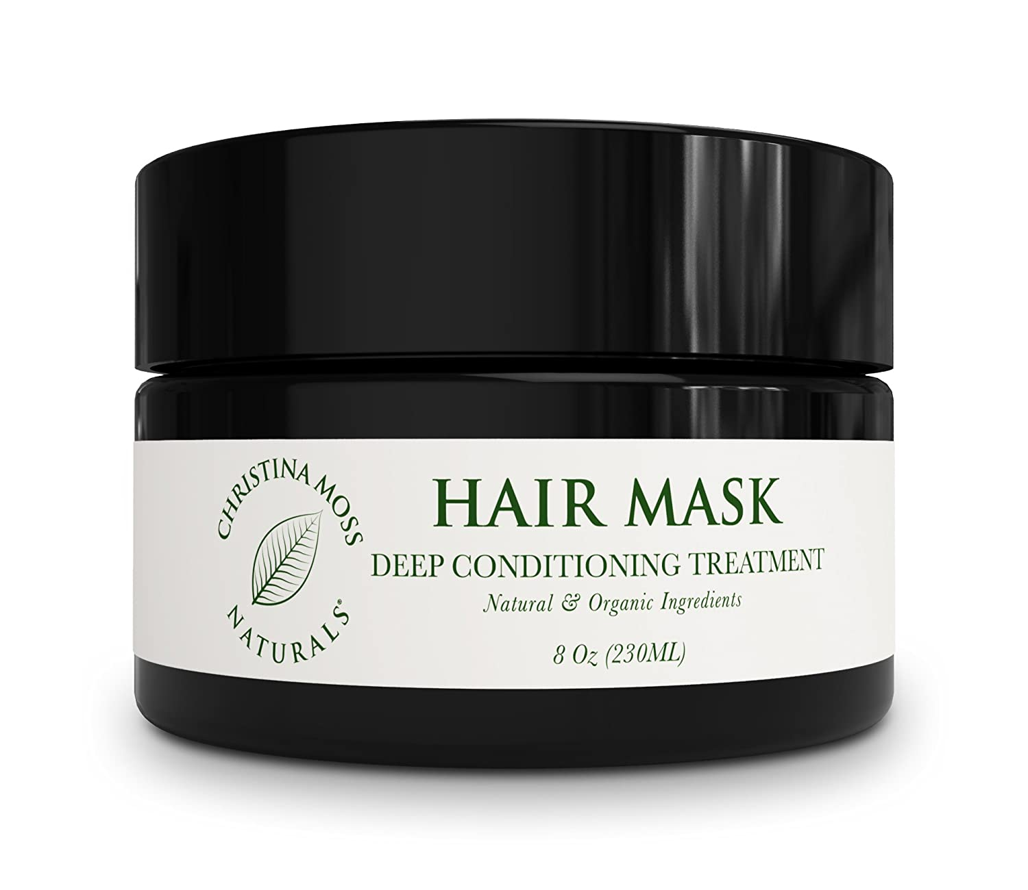 Deep Conditioner Hair Repair Treatment Mask For Damaged, Dry Hair. Rescue Care, Organic & 100% Natural For All Hair Types, Women, Men. Sulfate Free. No Harmful Chemicals. Christina Moss Naturals. 8oz.