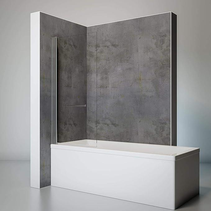 Schulte D581302 41 500 Lift-up - Mampara de ducha para bañera (75 x 145 cm), color cromo: Amazon.es: Bricolaje y herramientas