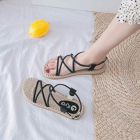 Sandalias con punta abierta para mujer, flop Fit, hebilla de