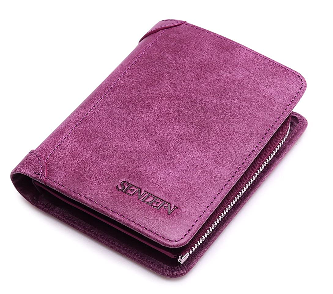 5121レディースパープル色2現金部屋の本革財布   B06XTTL2JM