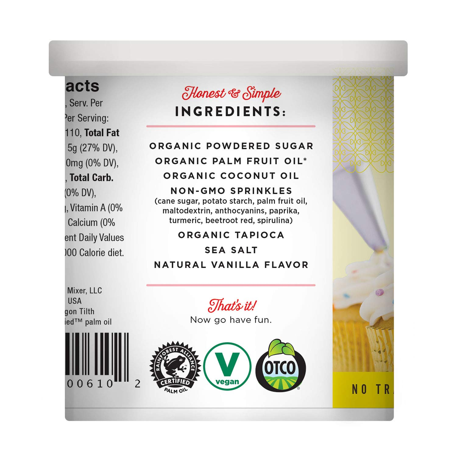 Miss Jones Baking 90% Organic Birthday Buttercream Frosting, Perfect for Icing and Decorating, Vegan-Friendly: Confetti Pop (Pack of 6) by Miss Jones Baking (Image #14)